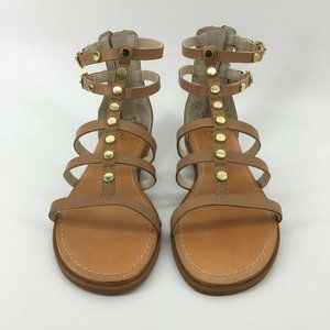 Seychelles Brown Leather Gladiator Strappy Sandals